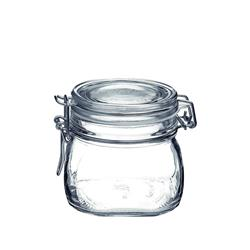 PRESERVING JAR 500ML CLIP SEAL FIDO GLASS (12)
