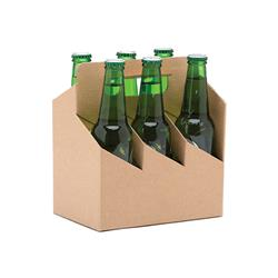 BEER CARRIER 6 PACK BROWN KRAFT 50/CTN