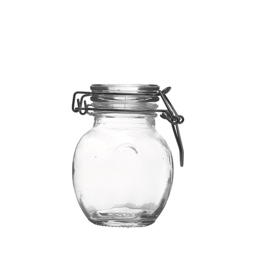 MINI APPETISER TULIP JAR GLASS 120ML W/- LID 64X85MM (6/108)