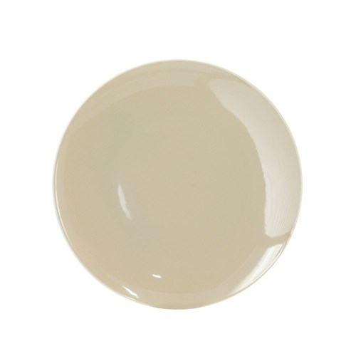 SAND COUPE FLAT PLATE 220MM BEIGE (6/24)