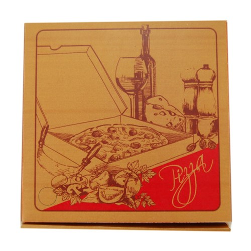 PIZZA BOX 280MM BROWN GOURMET 50/PKT 11""