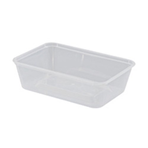 RECTANGLE CONTAINER 650ML PLASTIC 50/PKT (10)