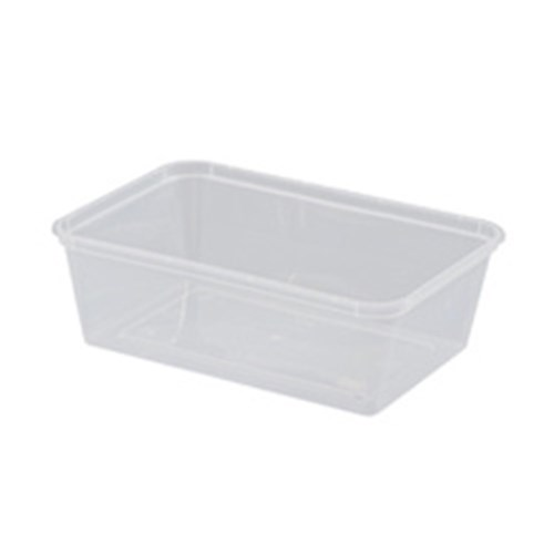 RECTANGLE CONTAINER 750ML PLASTIC 50/PKT (10)