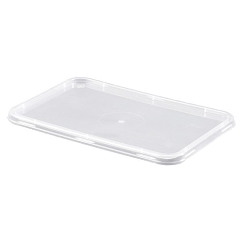 LID RECTANGLE SUIT 500-1000ML PLASTIC CONTAINERS 50/PKT(10)