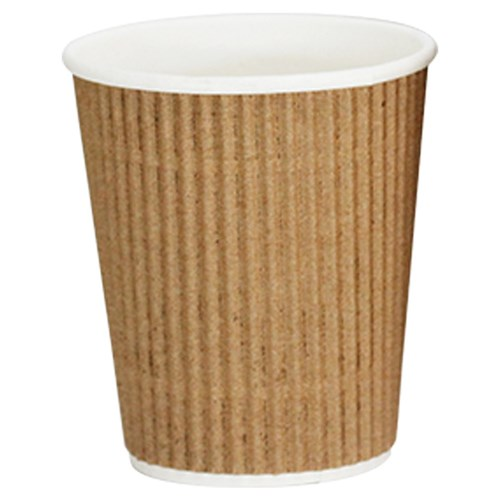 VEE INSULATED CUP 237ML BROWN 300/CTN