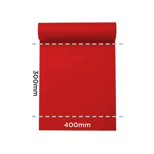 LISAH TABLE RUNNER / PLACEMAT RED 24MTX40CM (4)