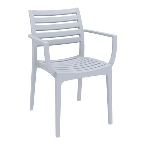 ARTEMIS ARM CHAIR SILVER GREY 450MM HIGH